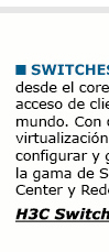 Soluciones H3C - Networking: Switches